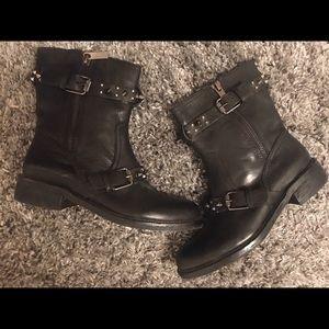 Distressed black Sam Edelman boots